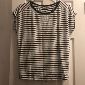 Gap navy and white striped top with tie back